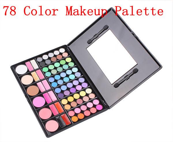 Livre Shiping Barato Beleza Série Do Produto-78 Cores de Sombra/Cheek Blush/Pó Compacto/Gloss Make Up Set 3 # P78