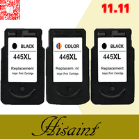 hisaint Hot For Canon PG 445XL CL 446XL PG 445 CL 446 PG445 CL446 Ink Cartridges for Canon IP2840 MG2440 MG2540 MG2940 MX494