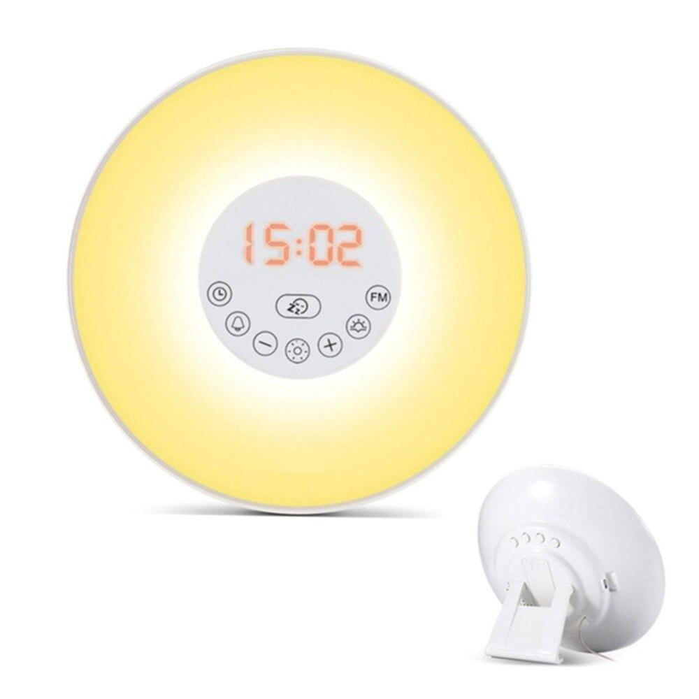 Multi-functional Radio XH301 Sunrise Smart Awakening Alarm Clock radio radios portatil Simulate the rising sun to wake you up все цены
