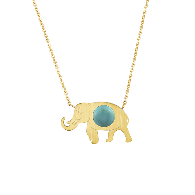 Gorgeous tale stainless steel lucky gold elephant pendant necklace gorgeous tale stainless steel lucky gold elephant pendant necklace for women bohemian jewelry trendy stone charm aloadofball Choice Image