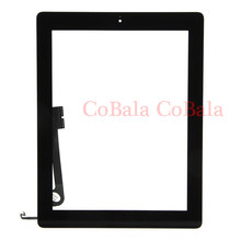 "50Pcs FreeDHL For iPad 4 2 3 4th Gen A1458 A1459 A1460 9.7"" LCD Outer Touch Screen Digitizer Front Glass Panel+Button+Adhesive(China)"