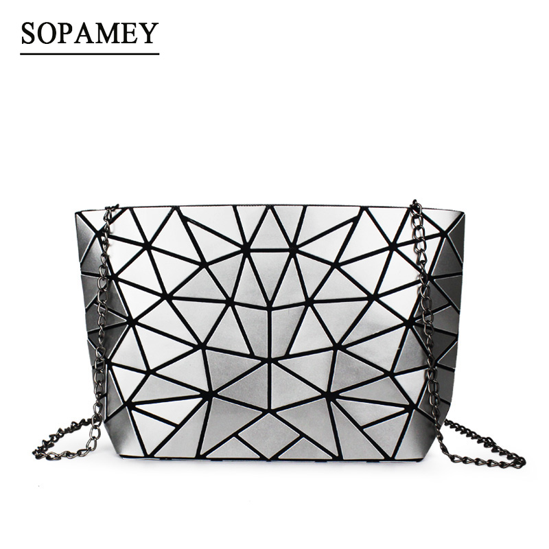 SOPAMEY Women Plaid Bag Geometric Chain Shoulder Bags Mini Casual Clutch Crossbody Bags Fashion Small Women Messenger Bag Bolsa цена