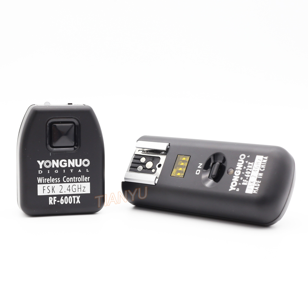 YONGNUO RF-602 RF 602C RF 602 C Wireless Remote Flash Trigger for CANON 1D 5D 7D 60D 50D 40D 30D 20D 10D 550D 500D Newest bp 511 bp511 camera battery 1x charger for canon eos 30d 20d 10d 300d d60