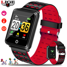 цены LIGE smart sports bracelet color large screen female fashion fitness tracker heart rate blood pressure oxygen smart watch men