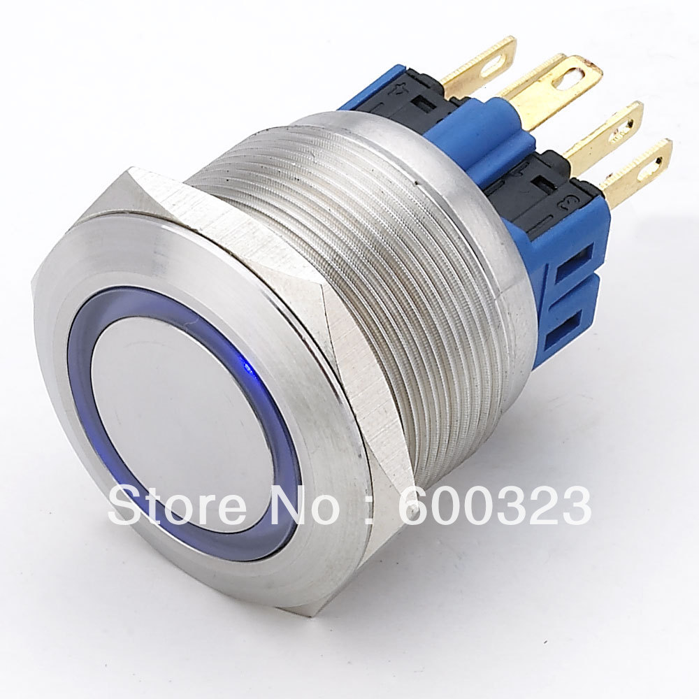 Latching 1no1nc Ring Illuminated Anti Vandal Push Button L25 Dia Wiring Setup For Blue Led 22mm 12v Stainless Steel Switch Momentary Dia25mm With Us189