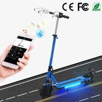 SUPERTEFF EW4 Pro складной kugoo приложение электрический скутер 8 дюйм; шины светодиодный свет e скутер с Bluetooth музыкой 36 В 350 Вт