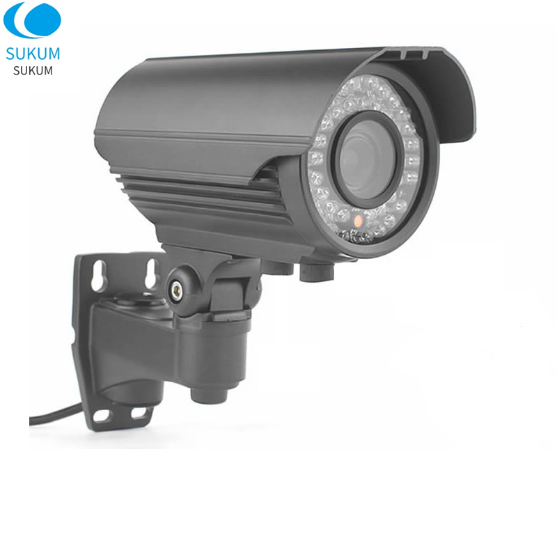 2MP 4MP Manual Zoom Bullet AHD Camera 2.8-12mm Varifocal Lens OSD Menu 42Pcs IR Leds Infrared Waterproof Outdoor Analog Camera
