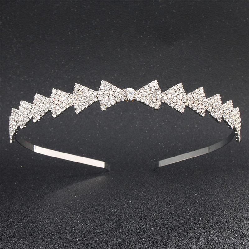 Fashion Bow font b hair b font band for women rhinestone bridal wedding font b tiara