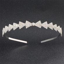 Fashion Bow hair band for women rhinestone bridal wedding tiara crown headdress Prom Daily Hairband female