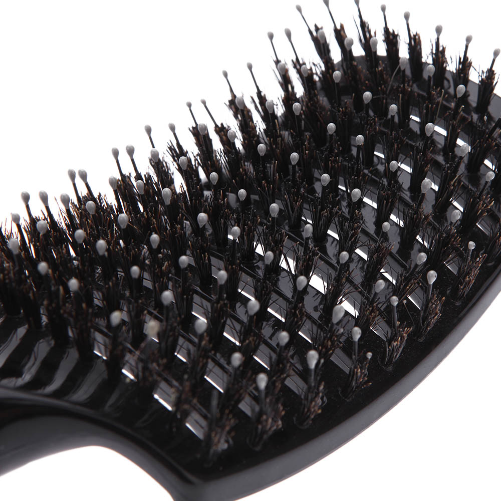 Professional Anti-static Curved Vent Barber Comb Salon Hairdressing Hair Styling Tool Rows Tine Comb Brush 4