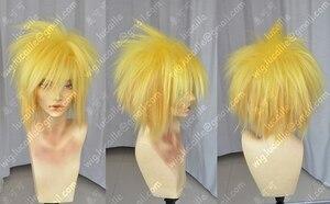 Image 2 - Anime NARUTO Namikaze Minato Lemon Yellow Synthetic Hair Cosplay Costume Wig + Wig Cap