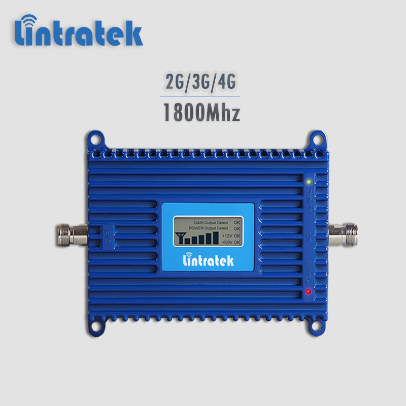 Lintratek signal booster 4G 1800Mhz cellphone signal repeater 2G/3G/4G 1800 GSM UMTS LTE mobile phone amplifier no antenna #5.5