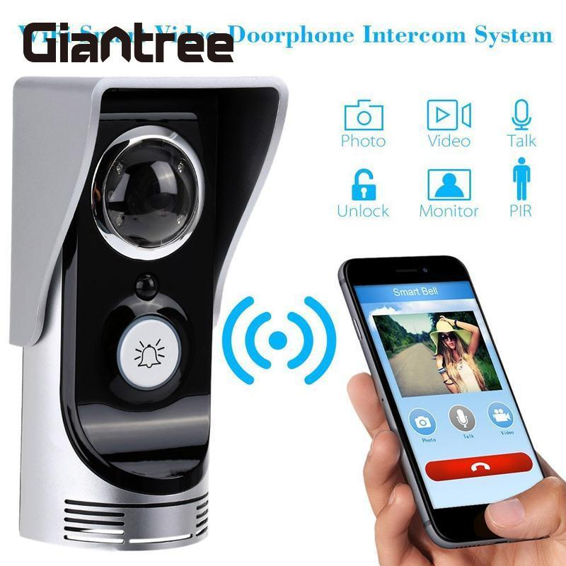 giantree WiFi Video Camera Door Bell Video Door Phone Doorbell Phone Wireless Home Doorbell Intercom Peehole Night Vision Camera  new wifi global doorbell camera wireless video intercom ip video door phone wireless door bell