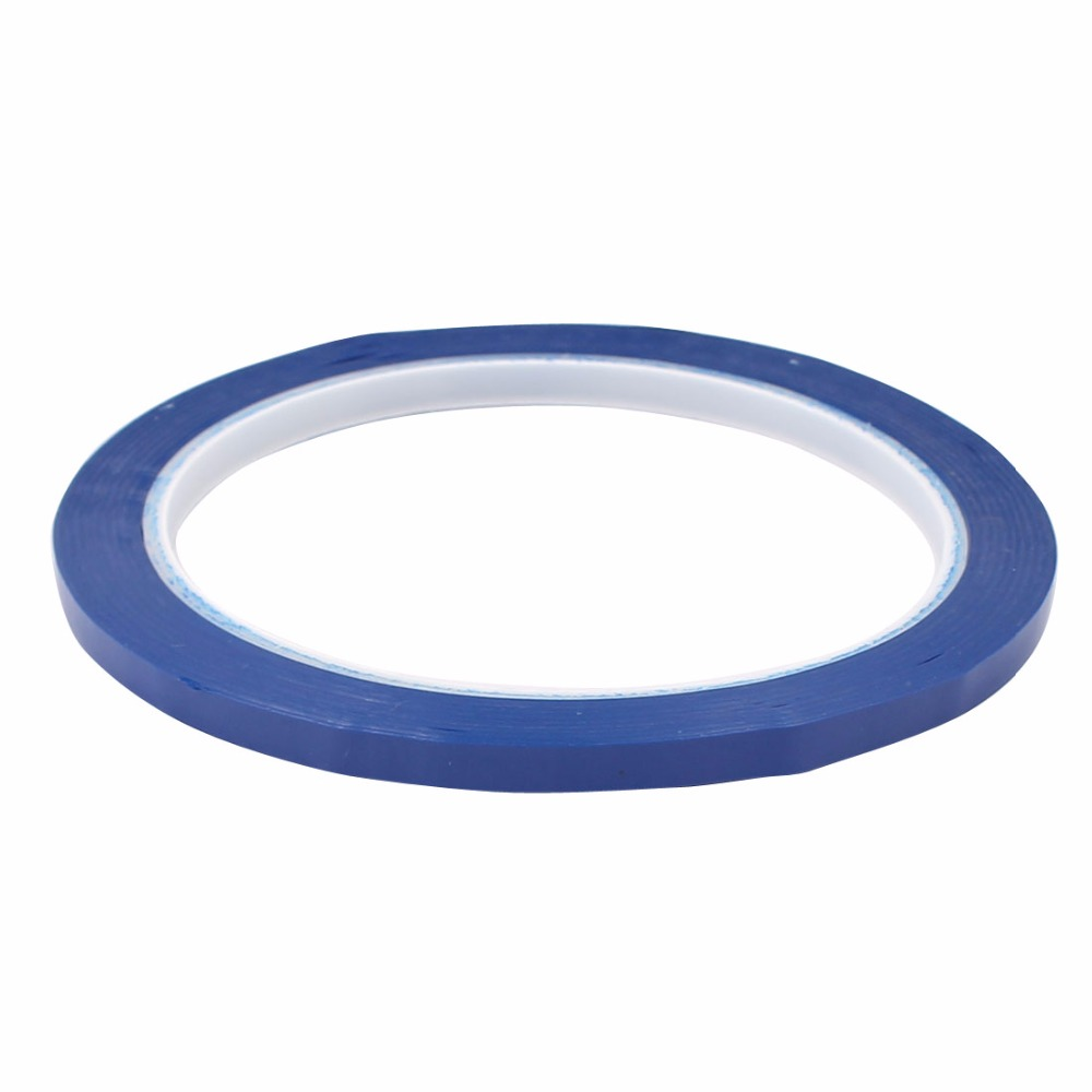 Uxcell Hot Sale 1PCS Blue/Black/White Single Sided Polyester Strong Self Adhesive Mylar Tape 50M X 5mm Width Insulation Tape