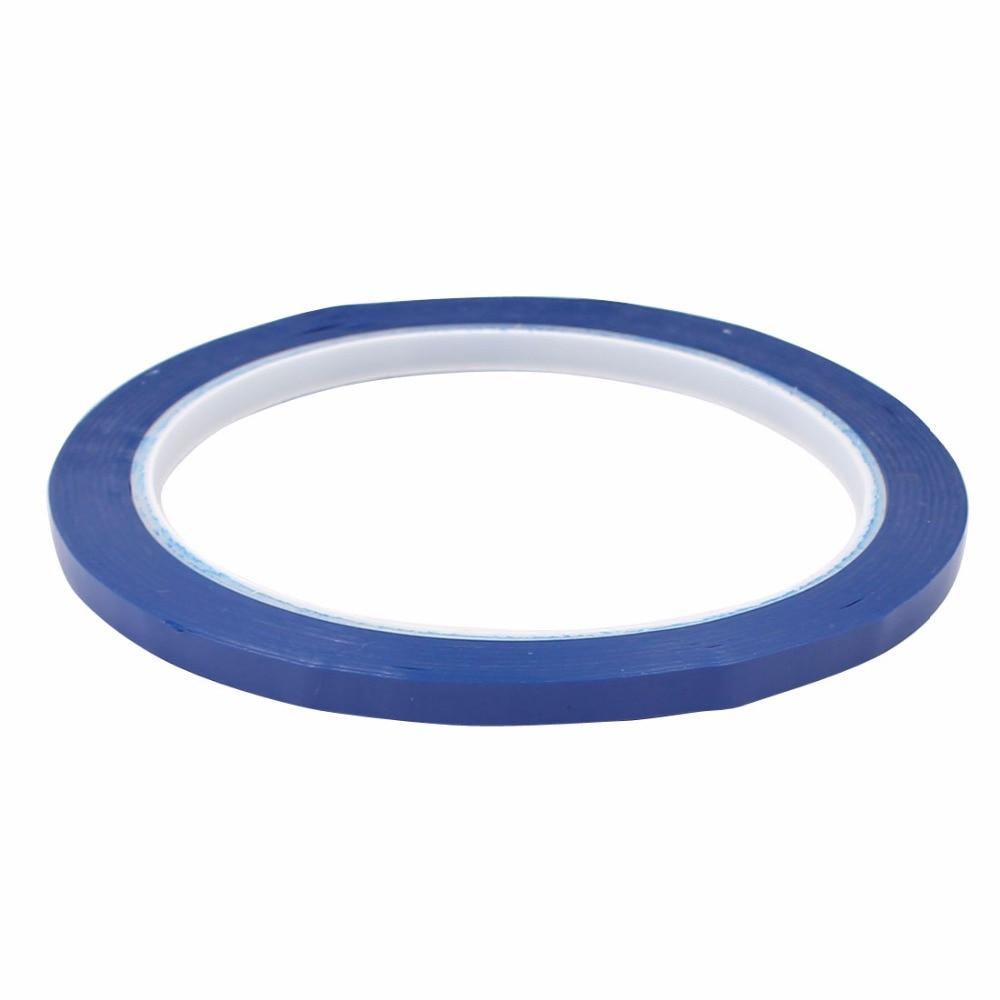 все цены на Uxcell Hot Sale 1PCS Blue/Black/White Single Sided Polyester Strong Self Adhesive Mylar Tape 50M x 5mm Width Insulation Tape онлайн