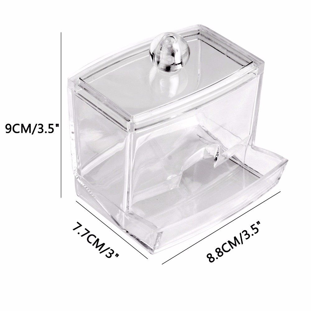 LemonBest Clear Acrylic Q Tip Storage Holder Box Transparent Cotton Swabs  Stick Cosmetic Makeup Organizer Case High Quality -in Storage Boxes & Bins  from ...