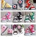 QYFLYXUE-zapatillas de ganchillo primera caminata zapatos niños deporte tenis botines hechos a mano de algodón 0-12 M 10 par/lote personalizado
