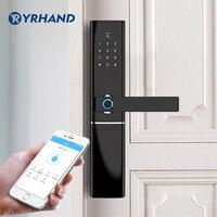 WiFi parmak izi kapı kilidi, Su Geçirmez elektronik dış kapı kilidi Akıllı Biyometrik Kapı Kilidi Akıllı parmak izi kilidi App Ile