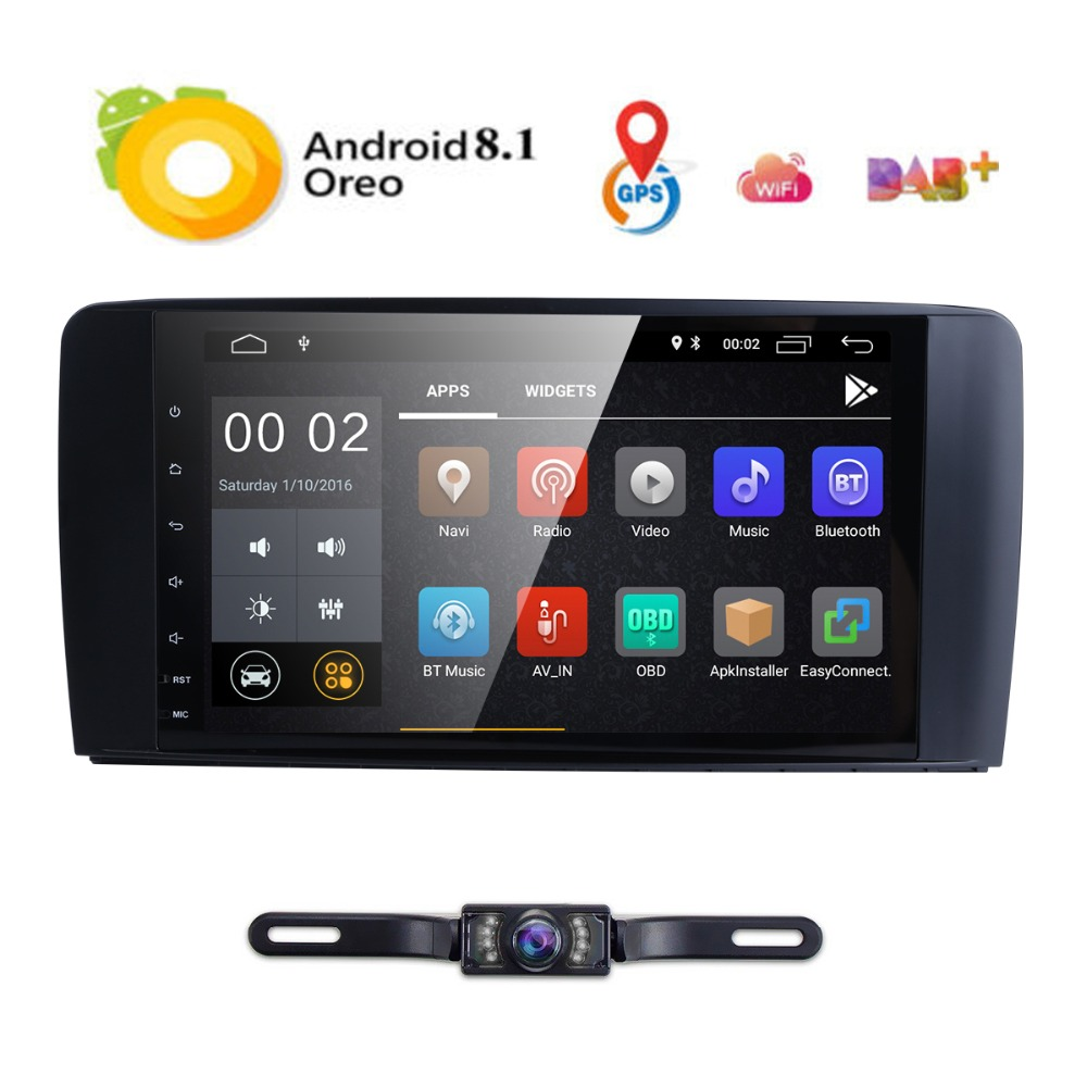 9inch 1024*600 QuadCore Android8.1 CAR NODVD GPS FOR Mercedes Benz ML W164/GL X164 ML350 ML320 ML280 GL350 GL450 2005-2012 2GRAM9inch 1024*600 QuadCore Android8.1 CAR NODVD GPS FOR Mercedes Benz ML W164/GL X164 ML350 ML320 ML280 GL350 GL450 2005-2012 2GRAM