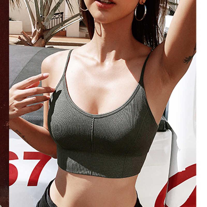 Wmuncc Dây Áo Ngực Thể Thao Với Miếng Lót Va Đập Cao Đẩy Lên Liền Mạch Crop Top Nữ Tập Gym Thể Hình Tập Luyện Tập Yoga Thể Thao hoạt Động Xe Tăng