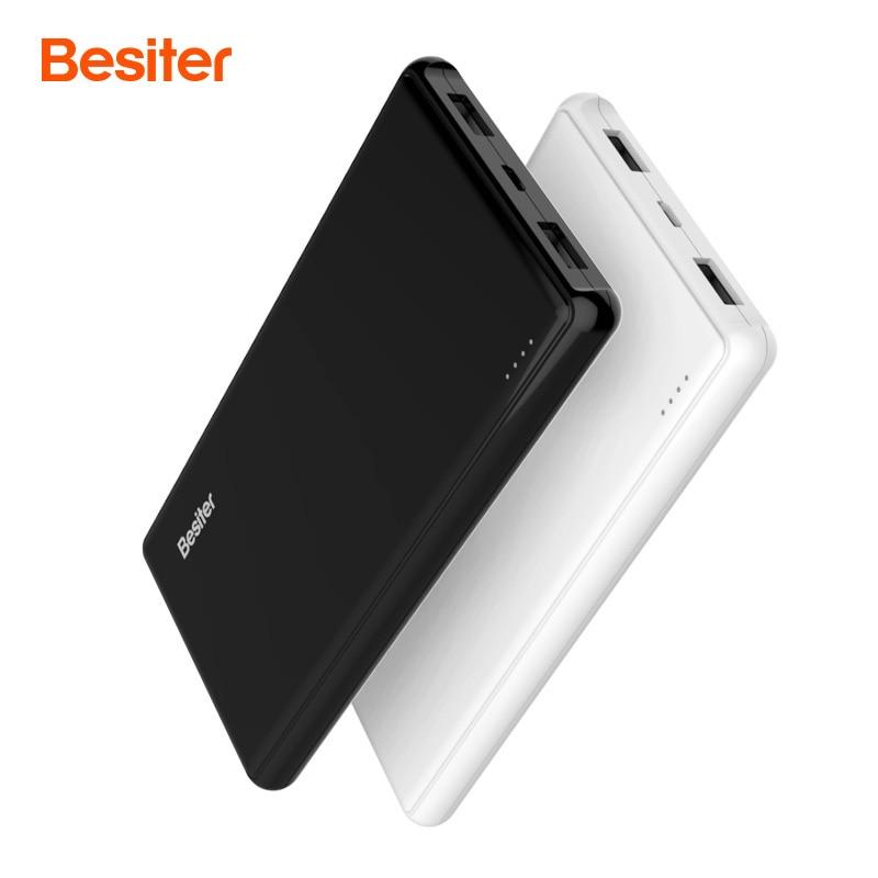 Besiter 5000 mAh batería externa del Banco de potencia PoverBank Slim portátil de diseño de carga cargador de banco de potencia para el teléfono xiomi teléfonos