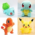 New Cute Poke mon Pikachu Bulbasaur Squirtle Charmander Soft Plush Toy Stuffed Doll Children Kids Chiristmas Birthday Gifts 20cm