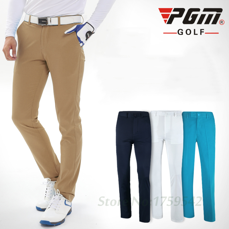 PGM Men's golf pants Plus Size Summer Style Breathable Bamboo Fiber Light long trousers for men sports Pantalon de golf clothes sports style owl printed lace up narrow feet long pants for men