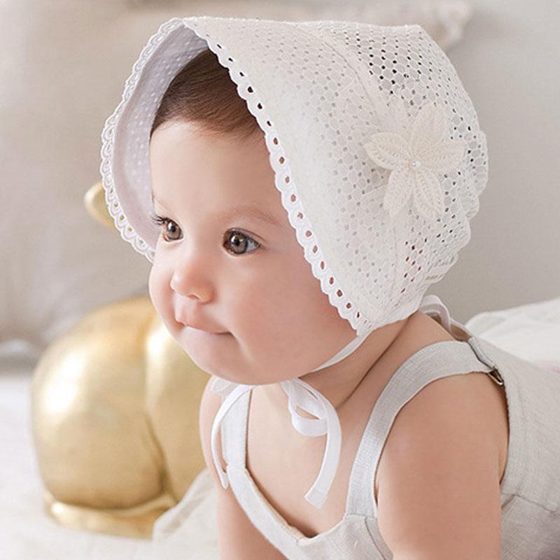Модная одежда для детей, Детская мода Кепки одноцветное Цвет полый оплетка шляпа младенческой новорожденных детей Шапки Кружево Кепки S дет...