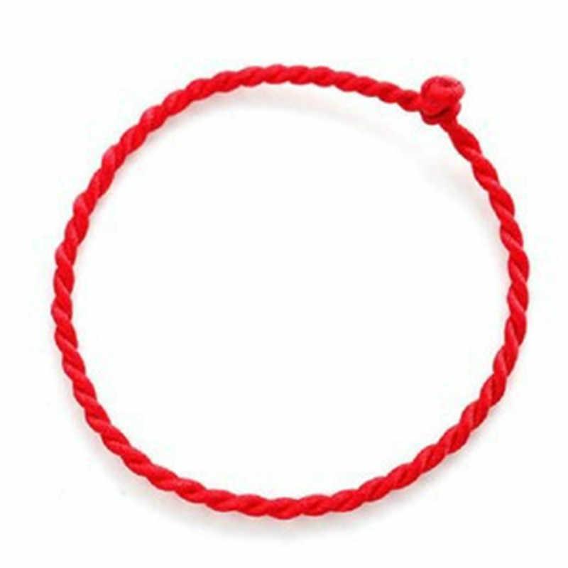 1PC 2mm 4mm Fashion Red Thread String Bracelet Lucky Red Green Handmade Rope Bracelet for Women Men Jewelry Lover Couple
