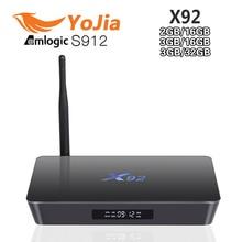 [Genuine] X92 2GB 16GB 3GB 16GB 32GB Android 6.0 Smart TV Box Amlogic S912 Octa Core CPU Kodi 16.1 5G Wifi 4K H.265 Set Top Box