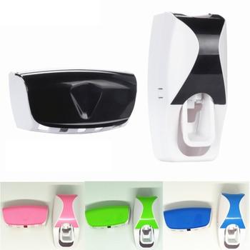 Gadgets de banheiro Dispensador automático de pasta de dentes + 5pcs Conjunto de suporte de escova de dentes Suporte de parede Rack de banho Acessórios para banho oral 1