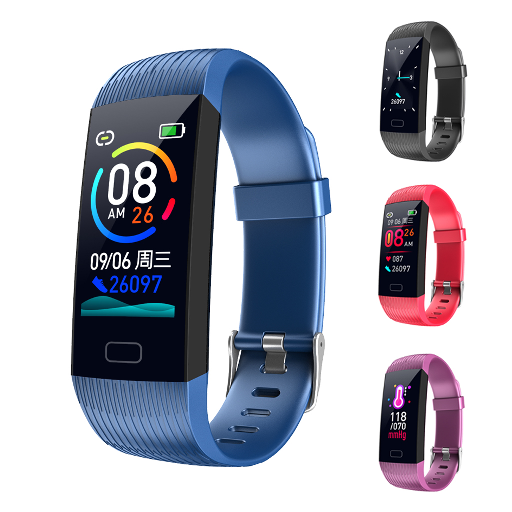 Z6 Smart Band Fitness Tracker Heart Rate Blood Pressure Monitor High Brightness Colorful Screen Wristband Bracelet