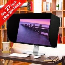 iLooker 27-inch Ultr-Slim Frame LCD LED Video Monitor Hood Sunshade Sunhood for Dell HP Viewsonic Philips Samsung LG EIZO