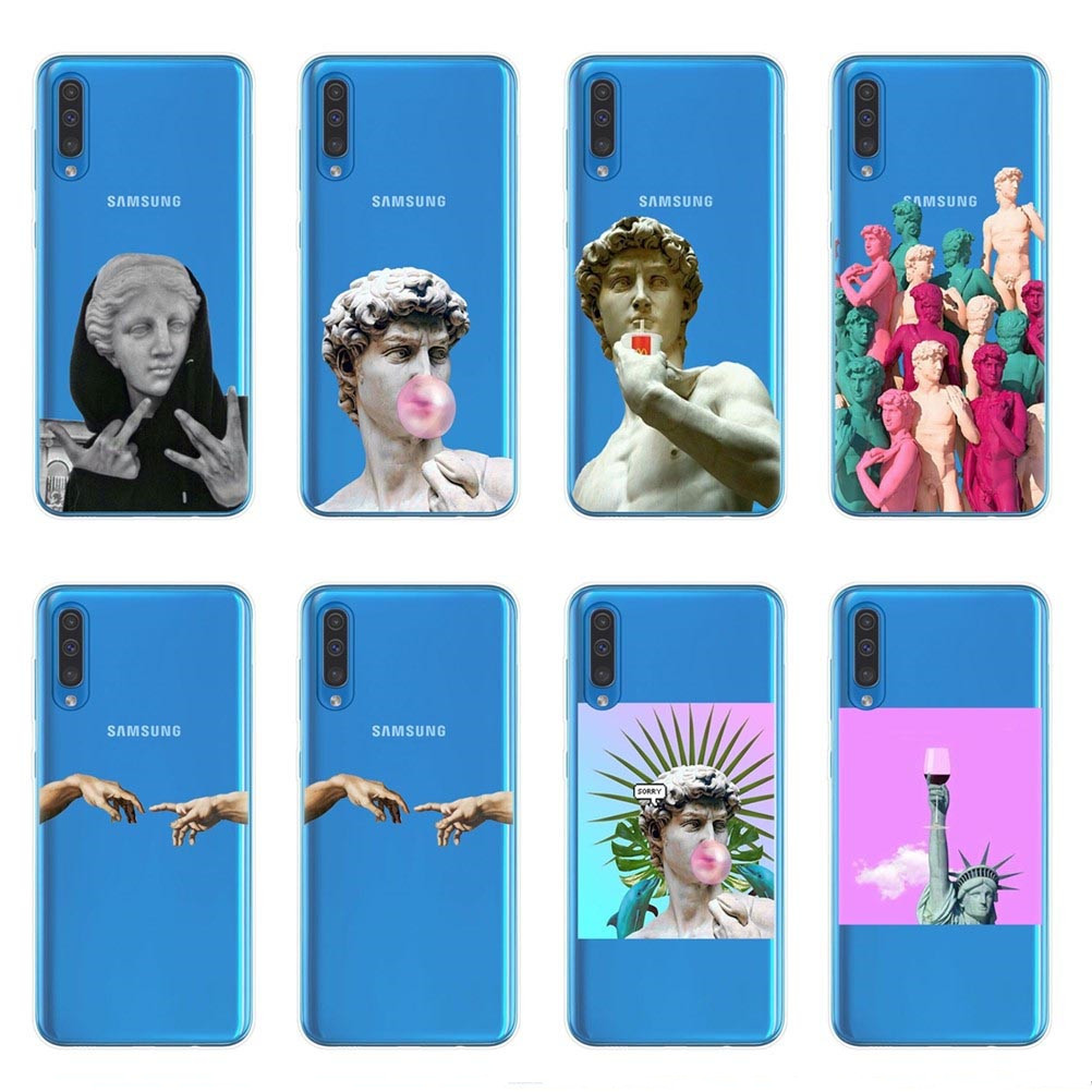 David Alternative statue art Phone Case For Samsung Galaxy J4 J6 A6 A8 Plus A7 A9 2018 A10 A30 A40 A50 A60 A70 A80 2019 Cover image