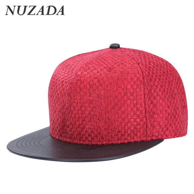 Brands NUZADA Mixed cotton and linen PU leather Hit color Men Women Sports Hat Hats Baseball Cap Hip Hop Snapback Caps yqt-004
