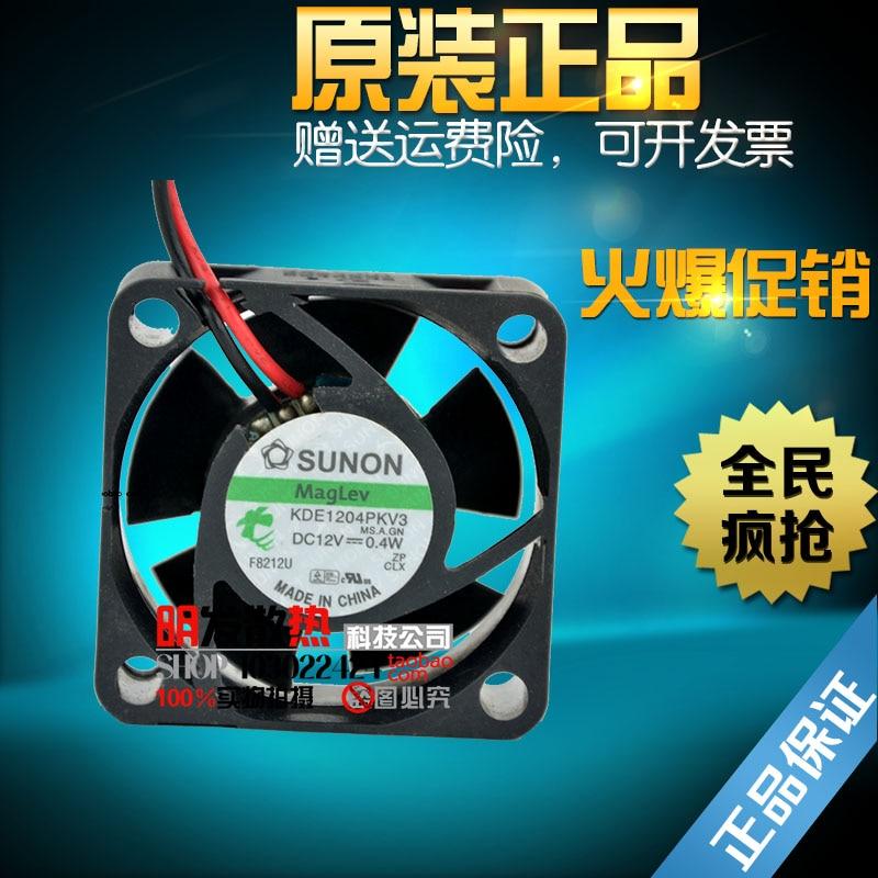Free Shipping SUNON KDE1204PKV2 40x40x20mm 4cm DC12V 0.4W Server Cooling Fan Server Square Fan 2-wire