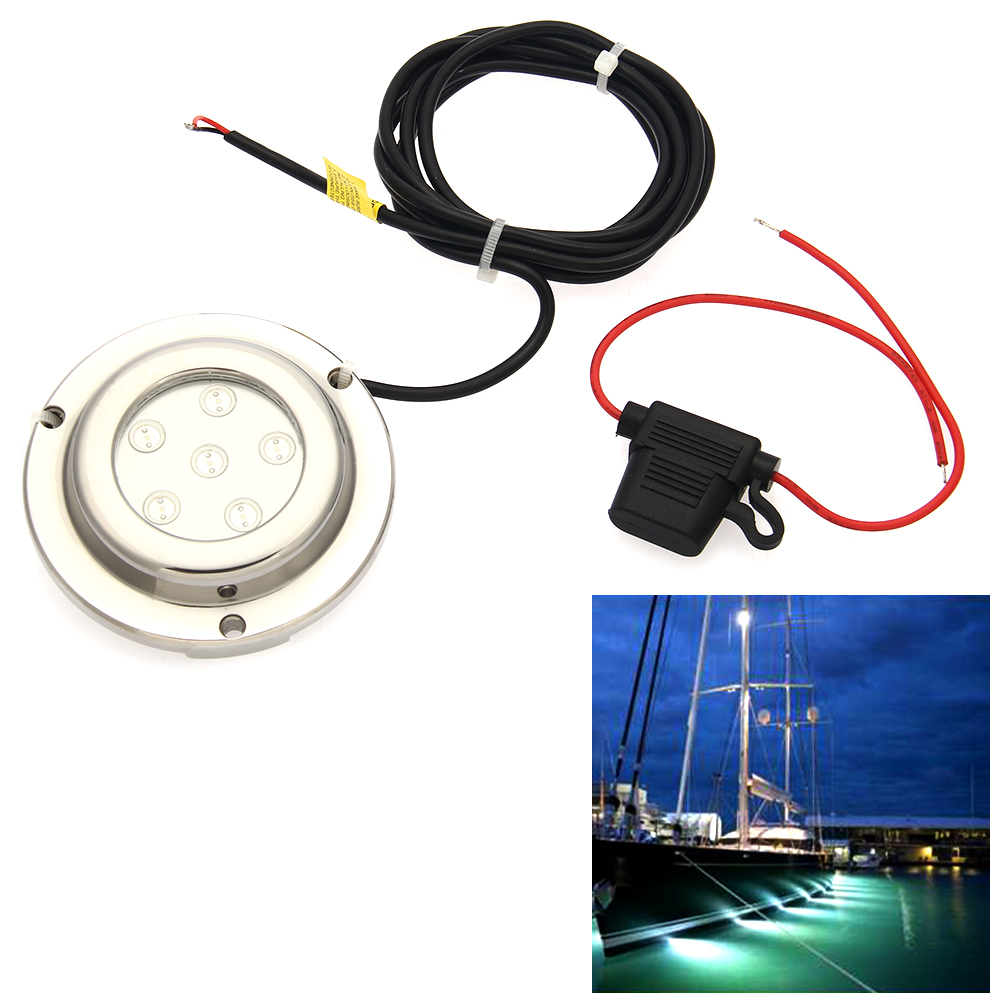Carchet Underwater Led 12v 6w Marine Boat Drain Plug Light