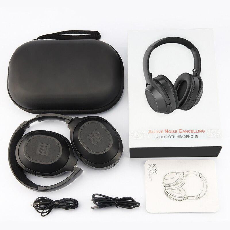 Langsdom BT25 casque antibruit actif casque sans fil Bluetooth avec Microphone pour téléphones ANC avec sac de transport 38 H - 6