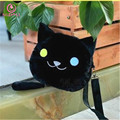 [SGDOLL] 1pc Japanese Game Neko Atsume Backyard Lolita Cute Black Cat Plush Shoulder Bag Handbags Free Shipping 16012101-B