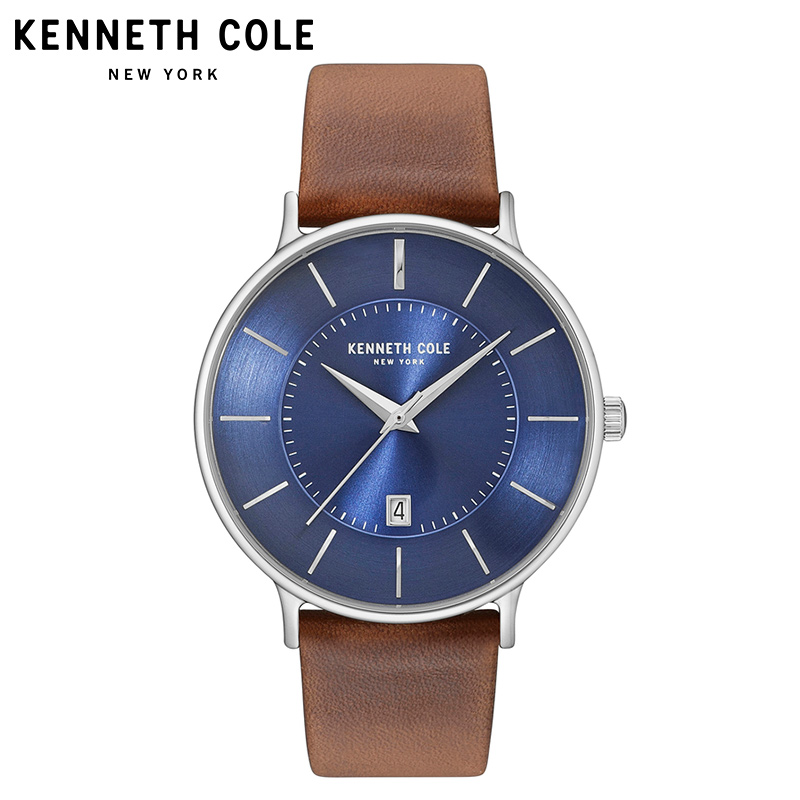 Kenneth Cole Watches for Men Original Quartz Leather Strap Buckle Date Waterproof Simple Luxury Brand Mens Watches KC15097001 цена и фото