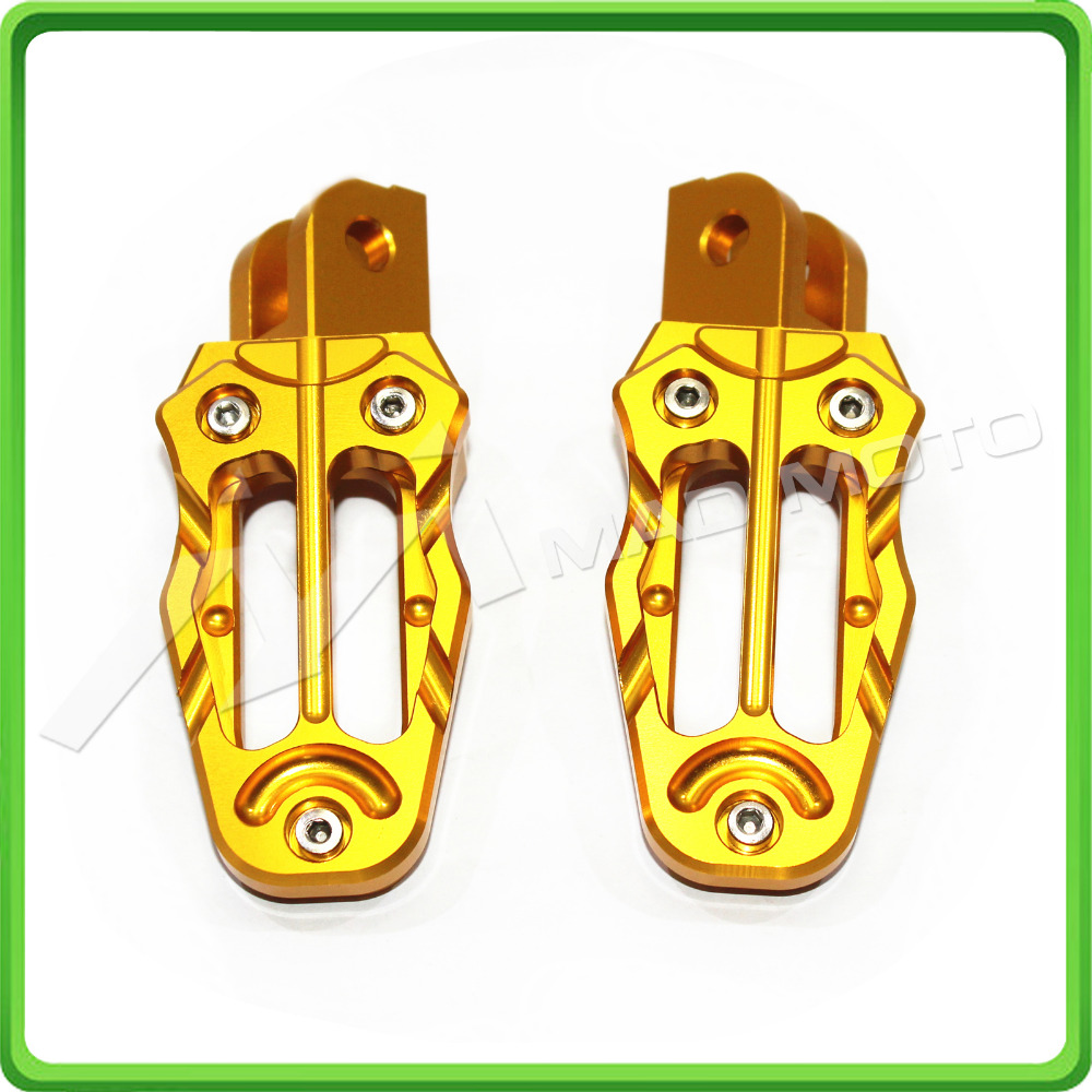 CNC Footrests Foot Pegs For Honda Grom OEM Mount Foot Pegs MSX125 2013 2014 2015 2016 Gold