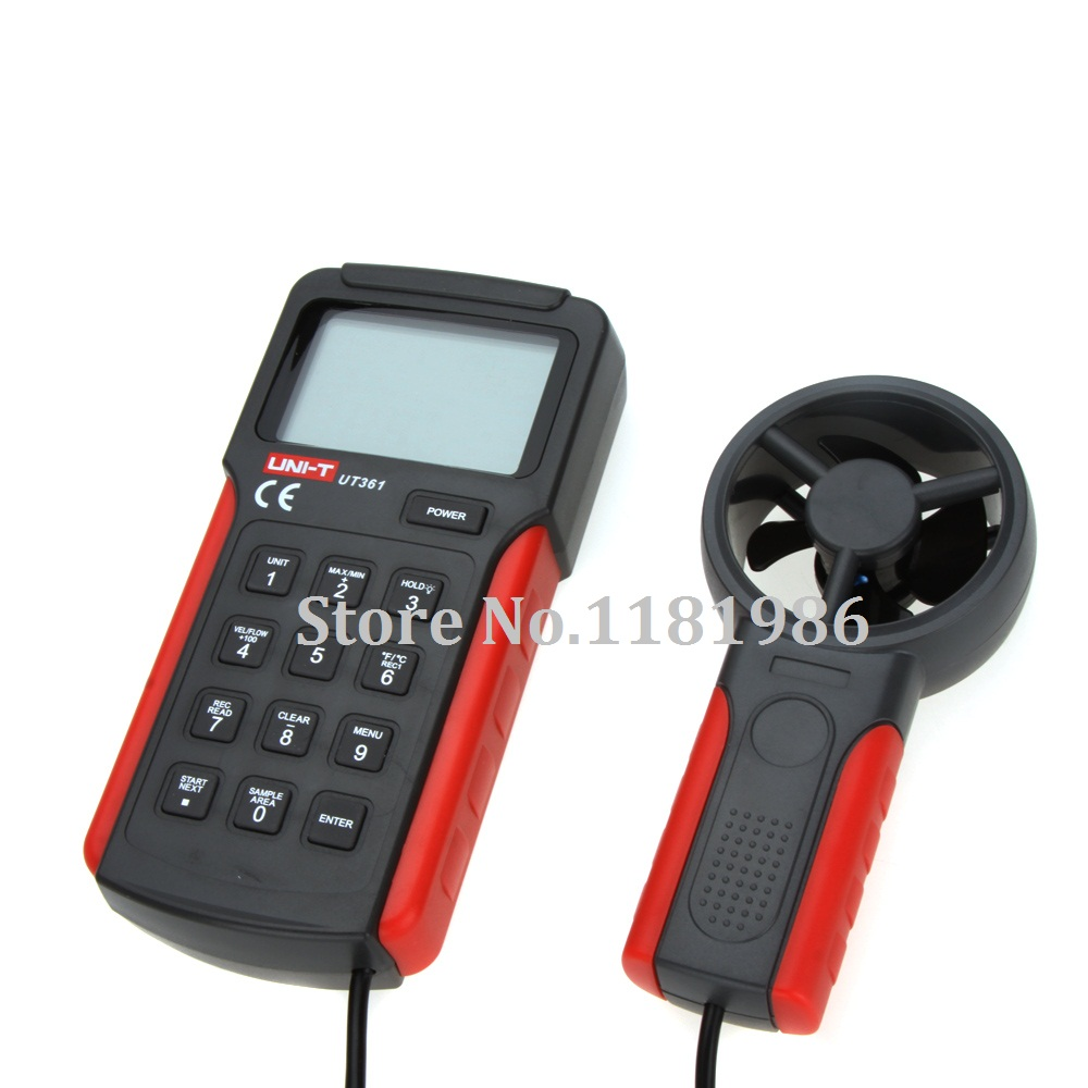 UNI-T UT361 Digital Air Flow Meter Tachometer Anemoscope Anemometer Data Hold with Temperature Measurement LCD Backlight  цены