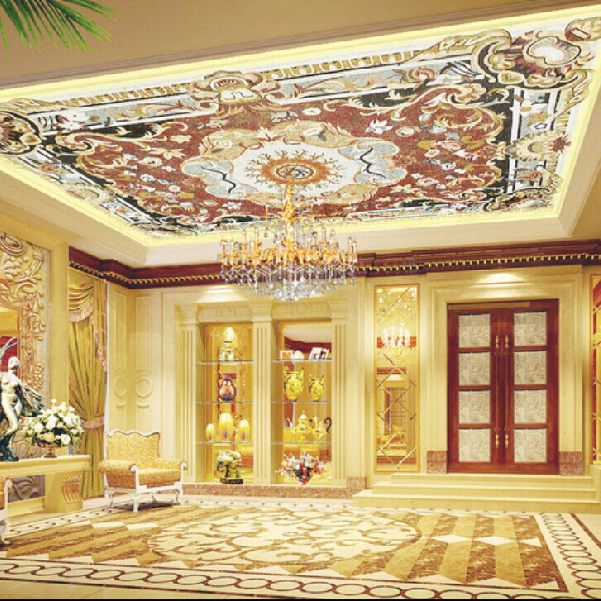 Free Shipping Large Wall Mural Hall Suspended Ceiling 3D