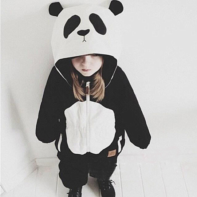 Nuevos Niños y Niñas Conjuntos Casuales de La Moda Modelo Animal de la Panda de Algodón Coat + Pants de Dos piezas Conjuntos de Ropa de Los Niños macho y Hembra Bebé Traje