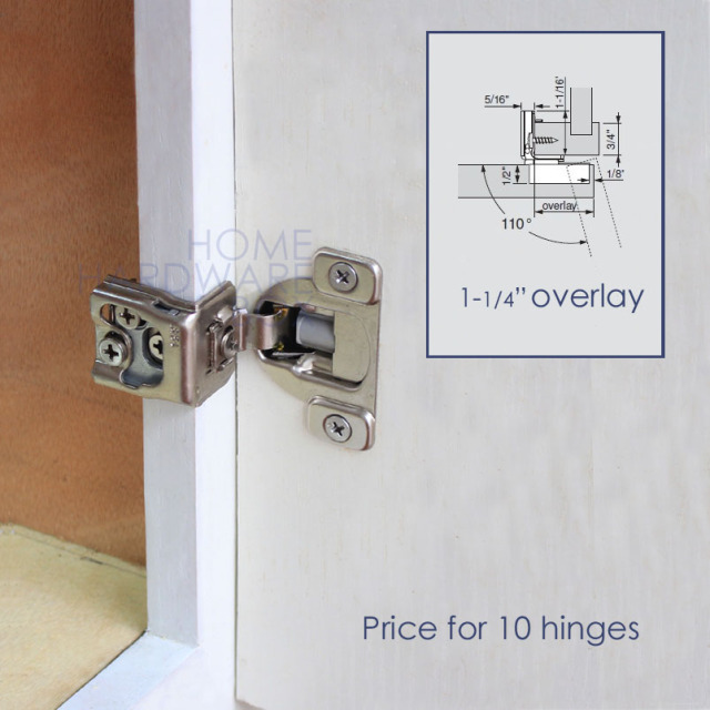 3 Way Adjustment Soft Close Frame Cabinet Door Hinge 1 4 Overlay