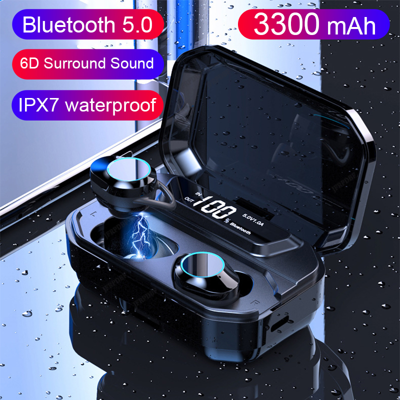 TWS Blutooth אוזניות אלחוטי אוזניות עם גדול טעינת מקרה 6D סטריאו ספורט משחקי אוזניות xiomi Kulaklik בנק-באוזניות ודיבוריות Bluetooth מתוך מוצרי אלקטרוניקה לצרכנים באתר