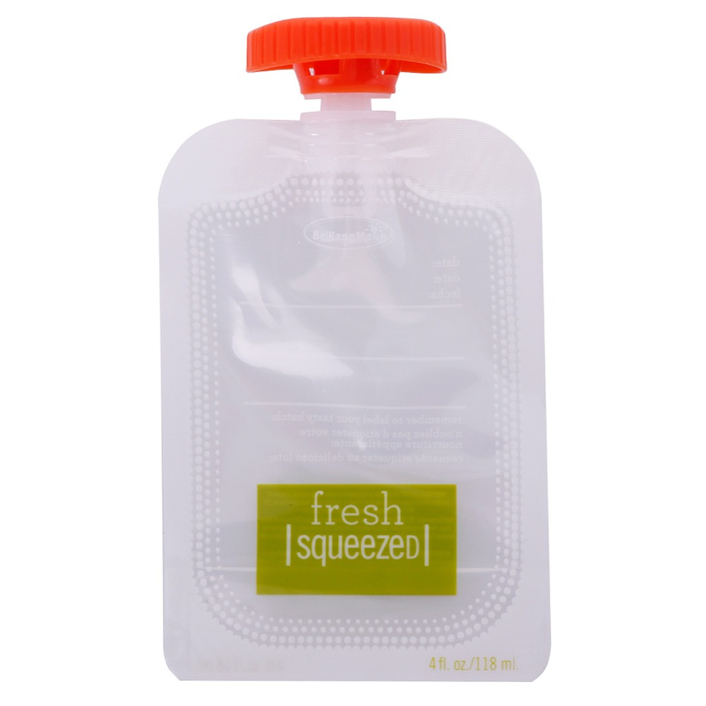 10PCS-Fresh-Squeezed-Pouches-Baby-Weaning-Food-Puree-Reusable-Squeeze-Storage-Bag-281643 (2)