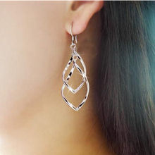 Imitation lambskin it D'Oreille2018 fashion falling silver leaf pendant earrings 925 dragon hanging earrings jewelry gifts femal(China)