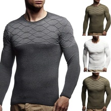 ZOGAA 2019 brand new casual social argyle pullover men sweater shirt jersey clothing pull sweaters mens fashion male knitwear