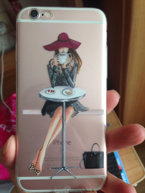 Shopping Girl Transparent iPhone Case